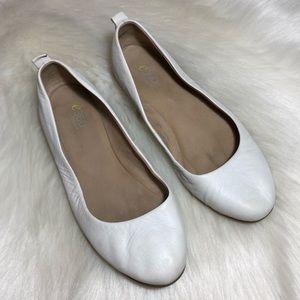 Easy Spirit 360 White Ballet Flats